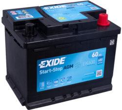 EK600 Exide AGM 60Ah