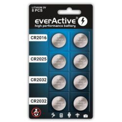 8-pakk_everActive_4_x_CR2032_2_x_CR2025_2_x_CR2016